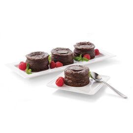 4 Chocolate lava cakes
