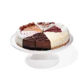 Gourmet Cheesecake Sampler includes 12 slices of cheesecake